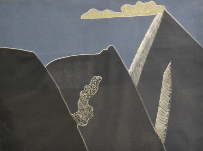 ARNOLD SHIVES -- MOUNTAIN, CLOUDS