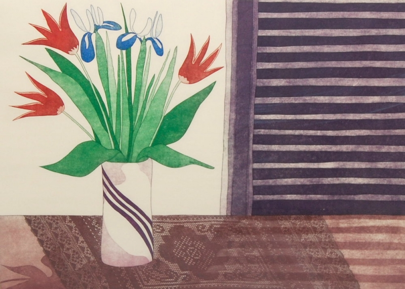 MOIRA CLARK -- FLOWERS FROM CHINESE GROCER